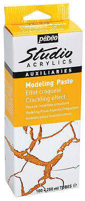 Pebeo Studio Acrylics Auxiliaries Modeling Paste Crackle Crackling Effect Kit