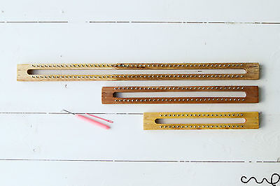 NEW Wooden Knitting Loom DIY with Hook & needle Strong Metal Fine Gauge Board