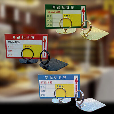 5x Table Place Number Price Label Clip Stand Photo Card Memo Sign Holder Mini SS