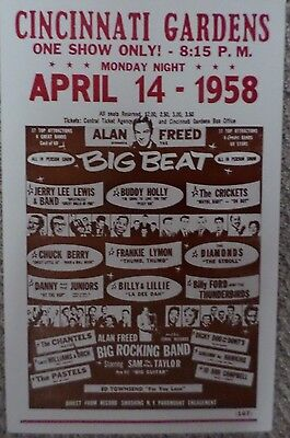 Cincinnati Gardens  Alan Freed presents The Big Beat with Buddy Holly Poster