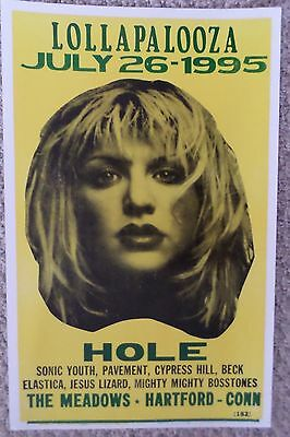 """Lollapalooza 95"""" at The Meadows featuring Hole Poster Print"""