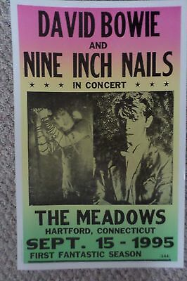 David Bowie and Nine Inch Nails performing together Poster Print