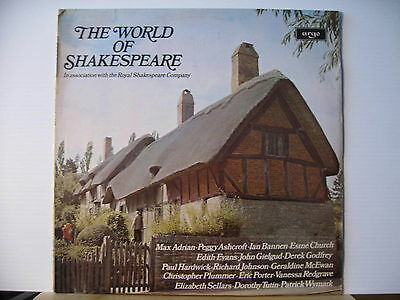 THE WORLD OF SHAKESPEARE Royal Shakespeare Company ARGO RECORDS LP FREE UK POST