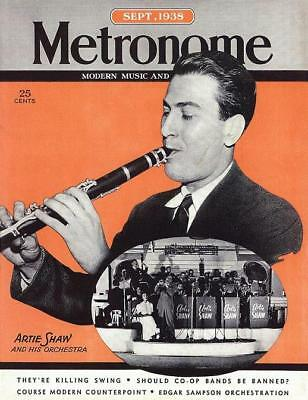 ARTIE SHAW King Of The Clarinet METRONOME Magazine Cover 11x14 Print Sept 1938