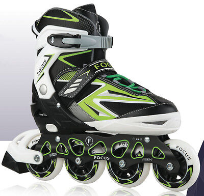 Blade X Softec Focus Green Adjustable Recreational Inline Skates Sizes 12 - 2