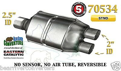 "70534 Eastern Universal Catalytic Converter 2.5"" Single / 2"" Dual Pipe 12"" Body"