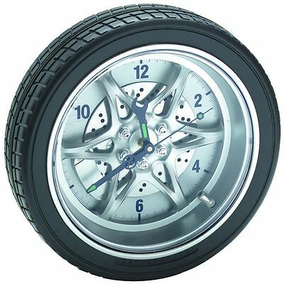 "CLOCK - 14"" Rubber Tire Rim Wall Clock for Garage or Man Cave"