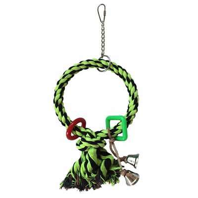 Adventure Bound Pet Bird Cotton Trapeze Single Rope Ring Swing Parrot Toy