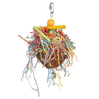 Adventure Bound Lawang Basket Bird Toy for Small Parrots & Parakeets, etc.