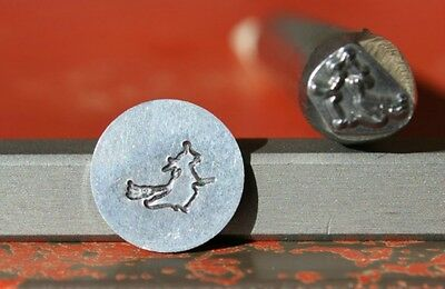SUPPLY GUY 7mm Flying Witch Metal Punch Design Stamp SGK-30, Made in the USA