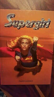 Rare Original Supergirl book (1984) Helen Slater (french)(français)