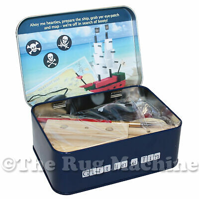 PIRATE SHIP IN A TIN - Apples to Pears - Kids Wooden Build & Paint Kit Set **NEW