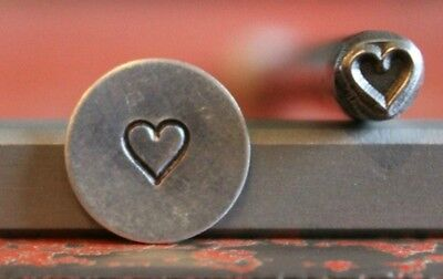 SUPPLY GUY 5mm Heart Metal Punch Design Stamp SGM-1, Made in the USA