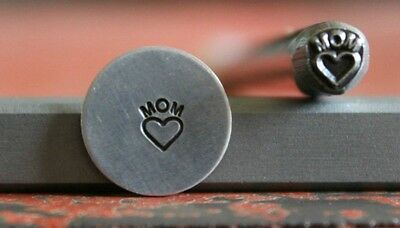 SUPPLY GUY 5mm Heart with Mom Metal Punch Design Stamp SGWM-27, Made in the USA