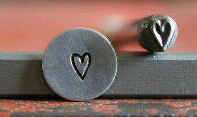 SUPPLY GUY 5mm Skinny Heart Metal Punch Design Stamp SGWM-24, Made in the USA
