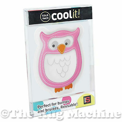 COOL IT BLUE OWL - Kids Cold or Hot Pack Bump Bruises Injury Soother Reusable!!