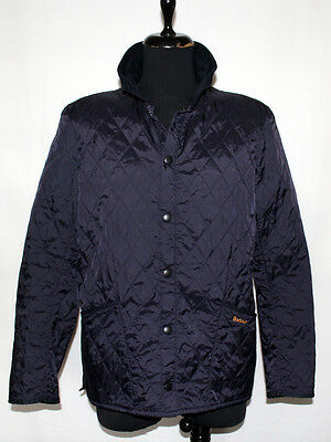 Barbour Men's Blue Quilted Jacket Coat Size M L