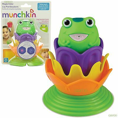 Munchkin Toddler Magic colour Lily pad stackers, One Frog Squirter for Bathtime