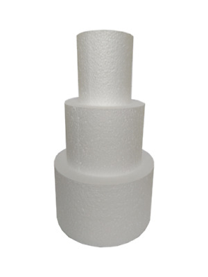"Cake Dummy STACKS Round SETS of THREE - 3"" to 12"" - 3"" or 4"" Depth Sugarcraft"