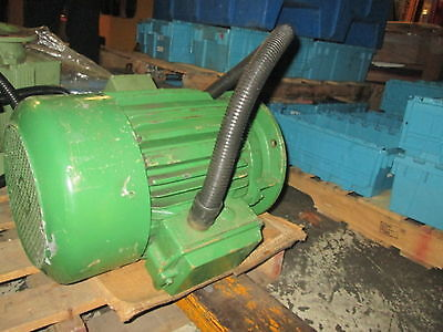 AB 230/460 Volt 3Ph Motor 12.6KW 60Hz For Arburg 50 Ton Molding Machine Rebuilt!