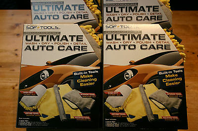 Total Car Care 4 Pc. Wash, Dry, Polish And Detail Polishing Clothes