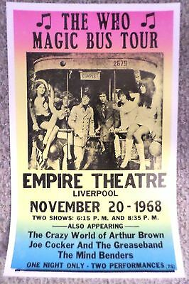 The Who Magic Bus Tour at The Empire Theatre Poster Print