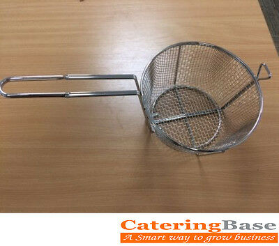 "Heavy Duty Commercial Frying Basket / 8.5"" Chips Basket for Restaurant Take Away"