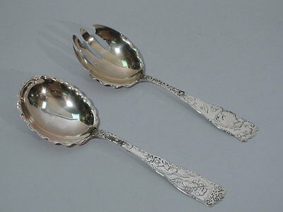 Mauser / Knowles Spoon & Fork - Aesthetic Serving - American Sterling Silver
