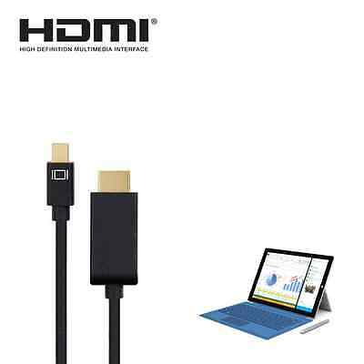 Microsoft Surface Pro 2,3,4 Mini DisplayPort(DP)to HDMI 4K TV Monitor 1.8m Cable