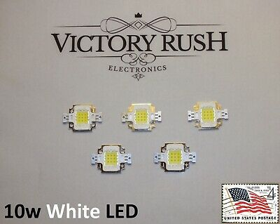 5X 10W White High Power LED Flood Light Lamp SMD 9V-12V USA
