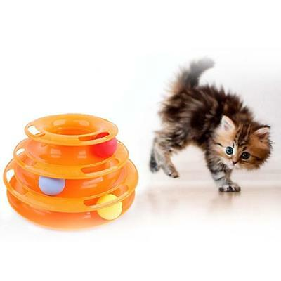 Mignon Kitty Cat Interactive Attraction Plate Tridermique Ball Disque Pet Toy ED