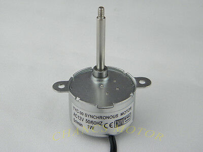 TYC-30 AC 12V SYNCHRONOUS MOTOR 5-6RPM CW/CCW 1W Torque for LED Decoration