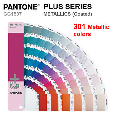 Pantone Plus Series Color Formula Guide GG1507 METALLICS (Coated) 301 Colors