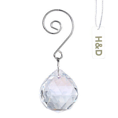 3 Clear Suncatcher Hanging Crystal Ball Rainbow Prism Fengshui Drop Pendant 30mm