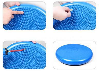 Inflatable Yoga Mat Massage Balance Cushion Disc Fitness Exercises Pad V3FP