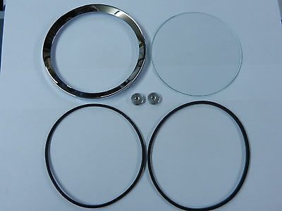 "4"" Half V Chrome Bezel Kit, Mga, Mgb, Austin Healey Etc."