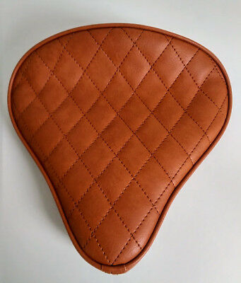Custom Solo Seat Tan to fit Harley Bobber Chopper Yamaha Triumph