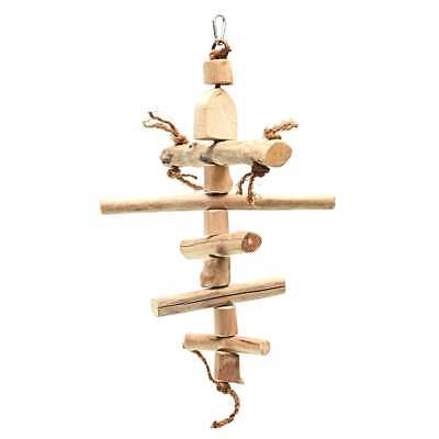Java Wood Fish Wooden Climbing Bird Toy Perch for Cage & Aviary Birds