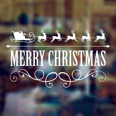 Removable Merry Christmas Greetings Decorative Window Art Wall Sticker Decal