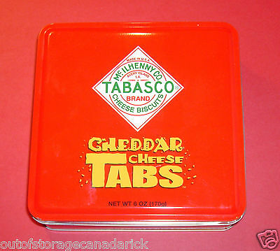 McIlhenny Co. Tabasco Brand Cheese Biscuits Collectible Tin Looks Great