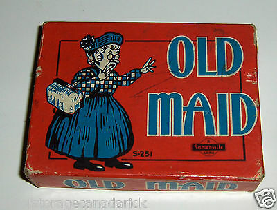 "Vintage Old Maid S-251 A Somerville Game ""Box Only"""