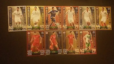 Topps Champions League Match Attax 2015 2016 Limited Edition Ronaldo Messi Gold