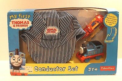 Fisher-Price Thomas & Friends Train Conductor Set w Hat , Whistle , & Toy Engine