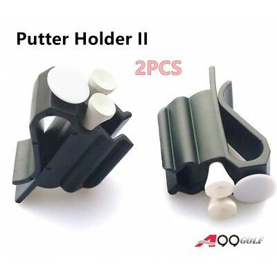2pcs A99 Golf 3-in-1 Putter Holder II with white ball markers - can hold 3 tees