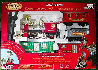 Santa's Express G Gauge Train Set Battery Powered Holiday Living - Working Great