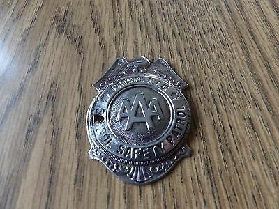 Vintage Collectible Metal Aaa School Safety Car Patrol Badge Rare Htf Wow A A A
