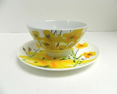 Vera By Vera Neumann Painted Poppies Plate And Bowl