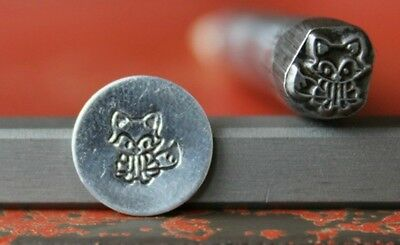 SUPPLY GUY 7mm Fox Metal Punch Design Stamp SG375-126, Made in the USA
