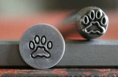 SUPPLY GUY 7mm Dog Paw Metal Punch Design Stamp SG375-44, Made in the USA