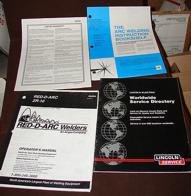 Owners Manual and Papers for Red-D-Arc ZR-10 Portable Welder Manual IM684